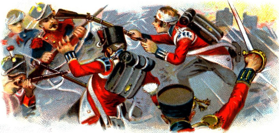 British Foot Guards during the Sortie from Bayonne on 14th April 1814 in the Peninsular War