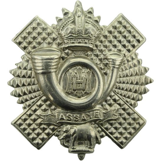Badge of the Highland Light Infantry, formerly 71st Regiment, with Assaye Elephant from the Battle of Assaye on 23rd September 1803 during the Second Mahratta War in India