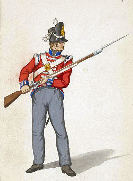 King's German Legion line regiment: Sortie from Bayonne on 14th April 1814 in the Peninsular War