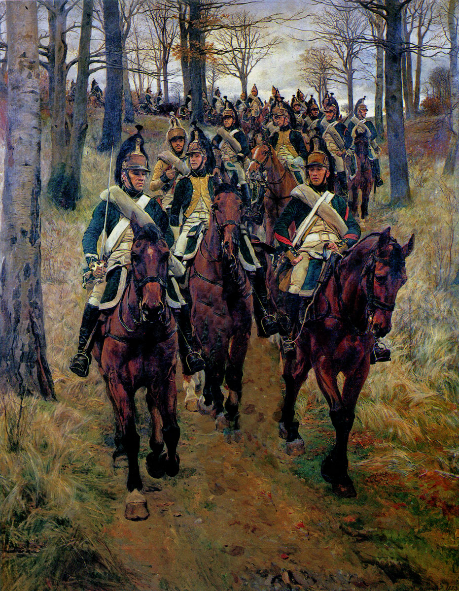 French Dragoons: Battle of Majadahonda on 11th August 1812 in the Peninsular War