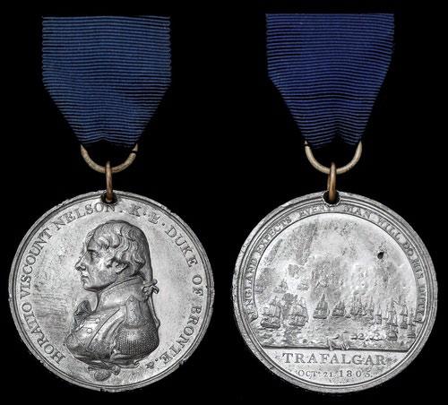 Matthew Boulton's Medal: Battle of Trafalgar on 21st October 1805 during the Napoleonic Wars