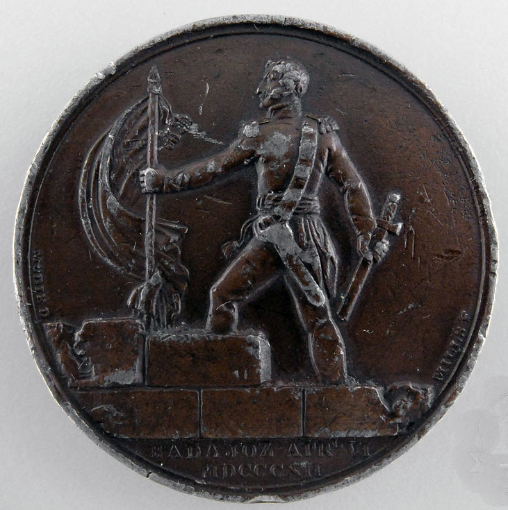 Medal commemorating the capture of the Castle by General Picton  in the Storming of Badajoz on 6th April 1812 in the Peninsular War