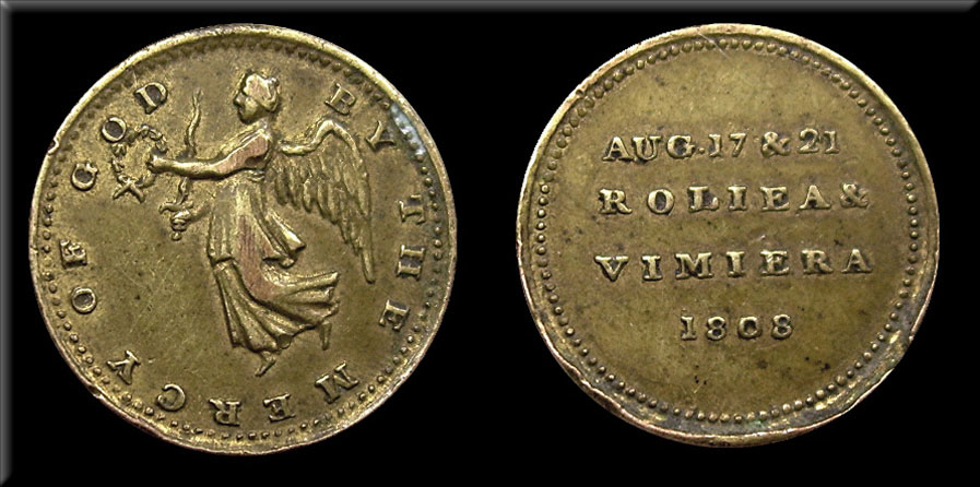 Medal commemorating the Battles of Roliça on 17th August 1808 and Vimeiro on 21st August 1808 in the Peninsular War