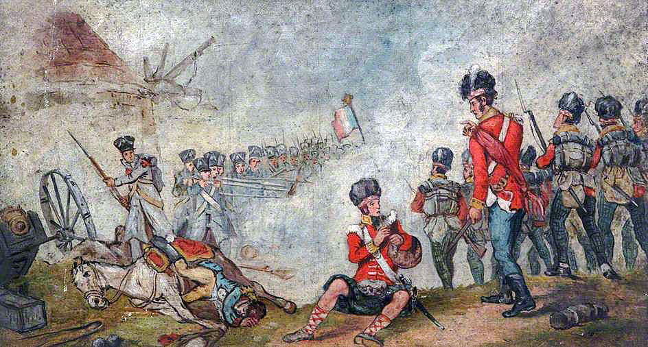 71st Highland Light Infantry at the Battle of Vimeiro on 21st August 1808 in the Peninsular War