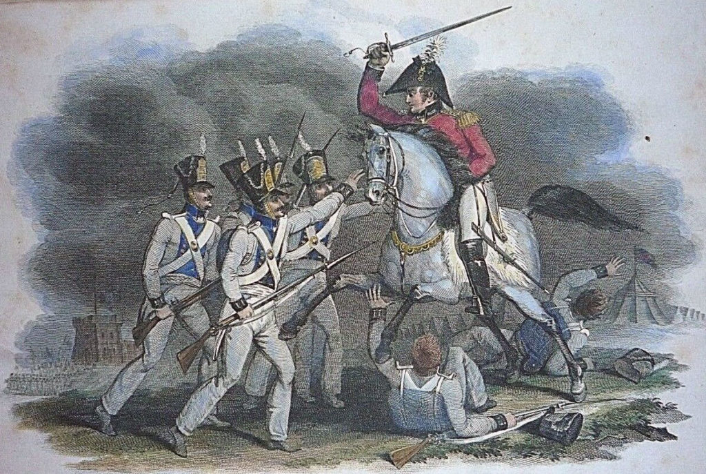Capture of Sir John Hope during the Sortie from Bayonne on 14th April 1814 in the Peninsular War