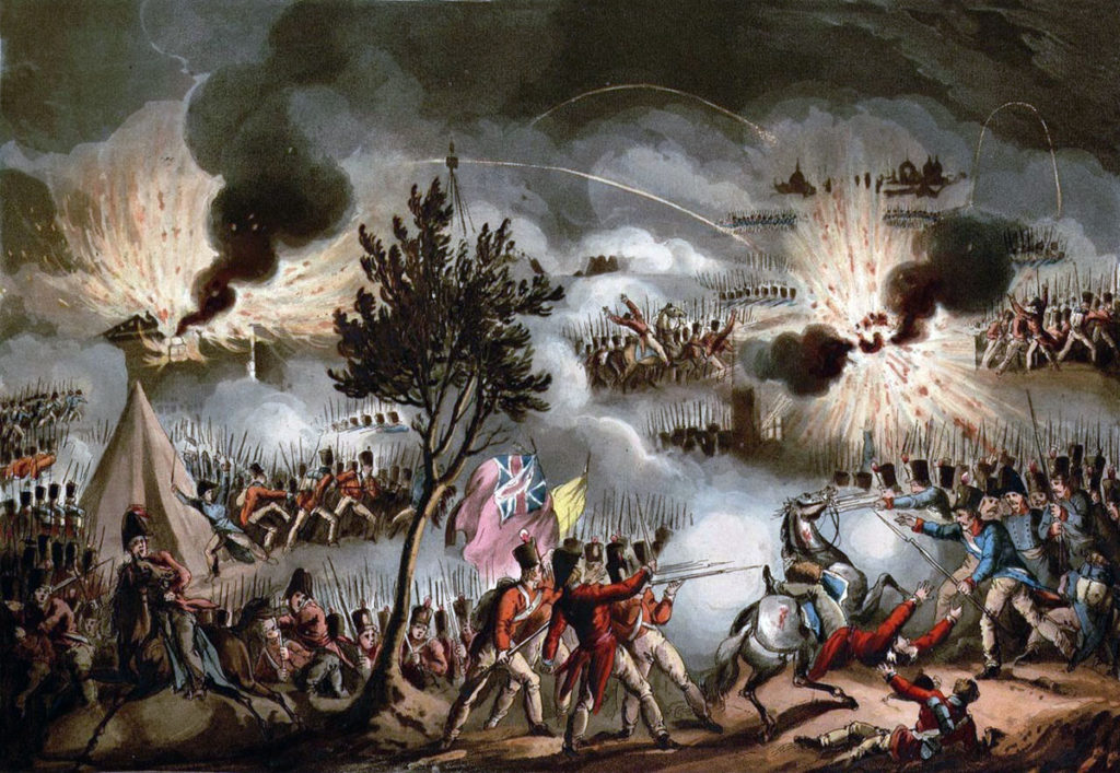 Sortie from Bayonne on 14th April 1814 in the Peninsular War: picture by J.J. Jenkins