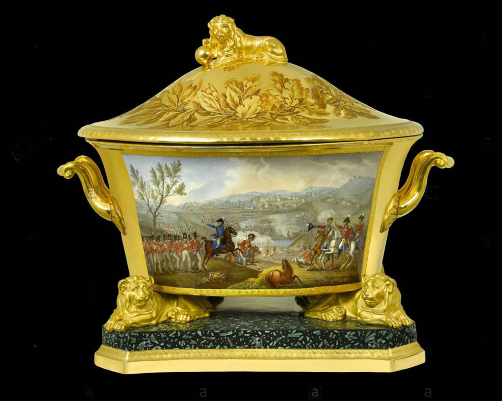 Soup Tureen presented to the Duke of Wellington by the King of Prussia portraying the Battle of Vimeiro on 21st August 1808 in the Peninsular War
