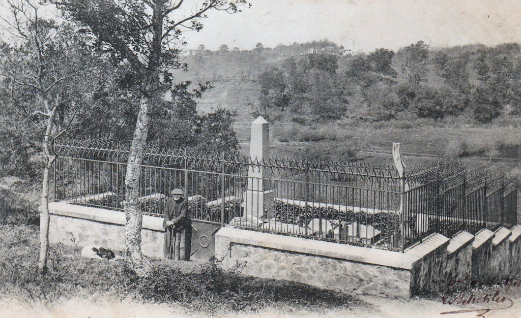 British cemetery after the Sortie from Bayonne on 14th April 1814 in the Peninsular War