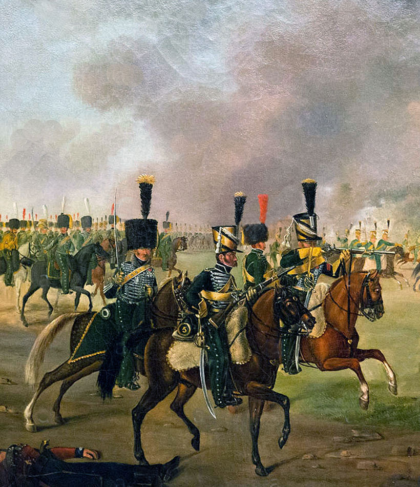 French 5th Chasseurs à Cheval: Battle of Toulouse on 10th April 1814 in the Peninsular War