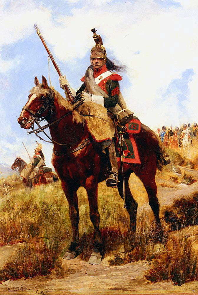 French Dragoon: Battle of Usagre on 25th May 1811 in the Peninsular War: picture by Édouard Detaille