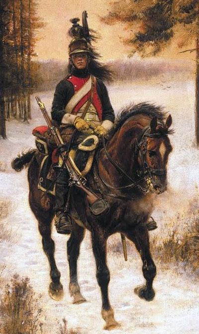 French Dragoon: Battle of Sahagun on 21st December 1808 in the Peninsular War