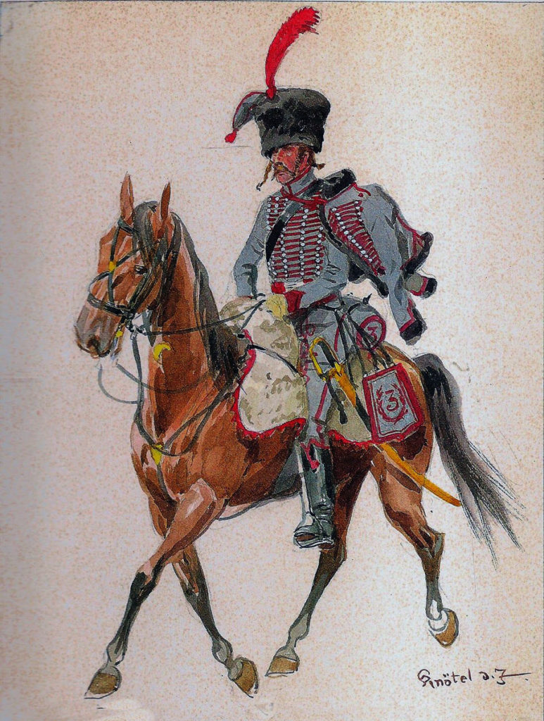 French 3rd Hussars: Battle of Cacabelos on 3rd January 1809 in the Peninsular War