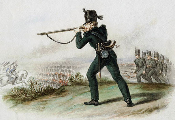 95th Rifles: Battle of Corunna, also known as the Battle of Elviña, on 16th January 1809 in the Peninsular War