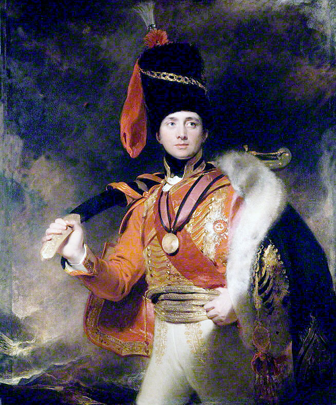 Brigadier General Charles Stewart: Battle of Benevente on 29th December 1808 in the Peninsular War: picture by Thomas Lawrence