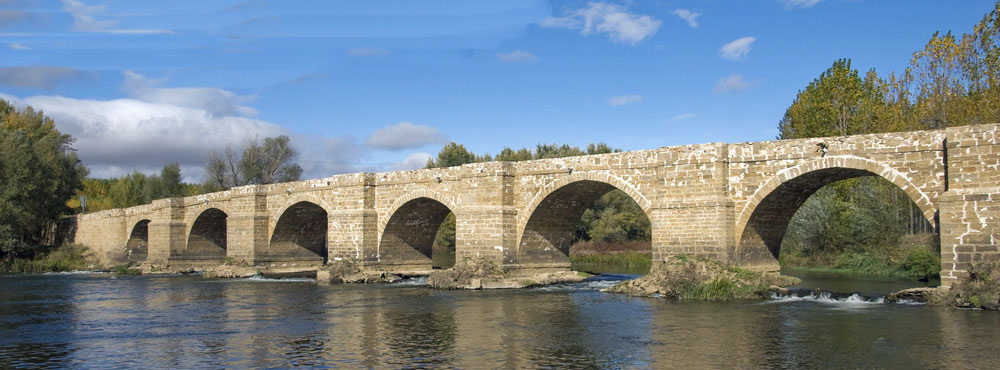 Bridge at Castro-Gonzalo: Battle of Benevente on 29th December 1808 in the Peninsular War