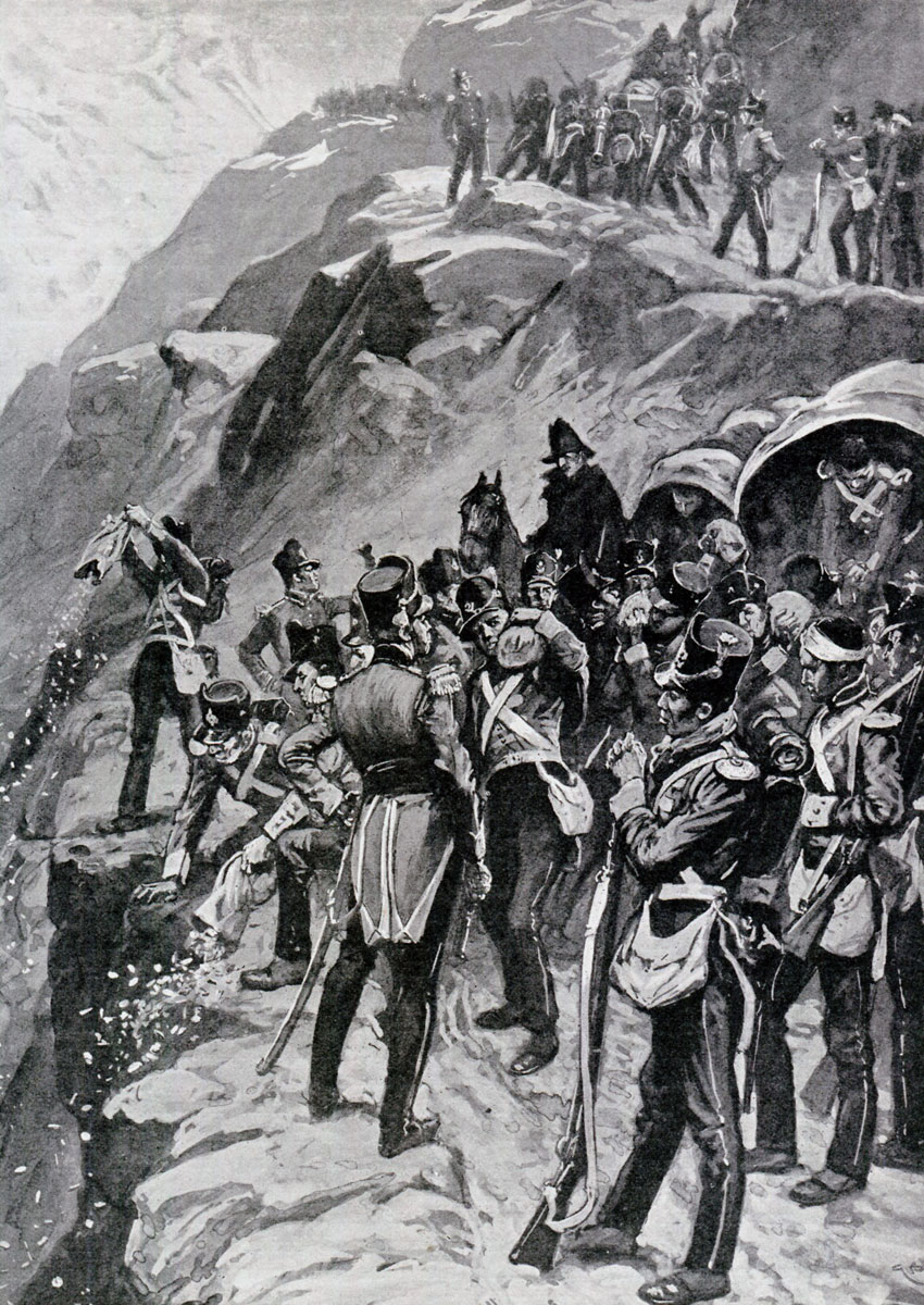 'Throwing the army's cash down the mountainside': Battle of Corunna, also known as the Battle of Elviña, on 16th January 1809 in the Peninsular War: picture by Gordon Browne