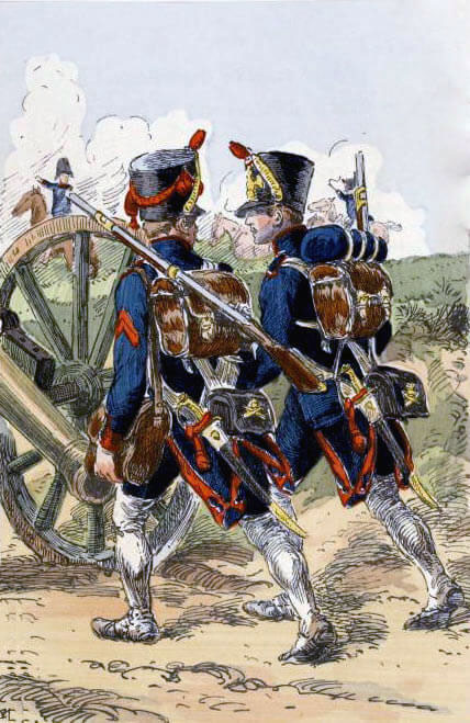 French Artillery: Battle of Corunna, also known as the Battle of Elviña, on 16th January 1809 in the Peninsular War