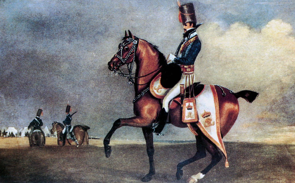 Major General Lord Henry Paget in uniform of the 7th Hussars: Battle of Sahagun on 21st December 1808 in the Peninsular War