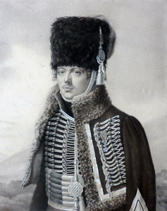 Maurice Tascher, colonel of the 1st Provisional Chasseurs à Cheval: Battle of Sahagun on 21st December 1808 in the Peninsular War
