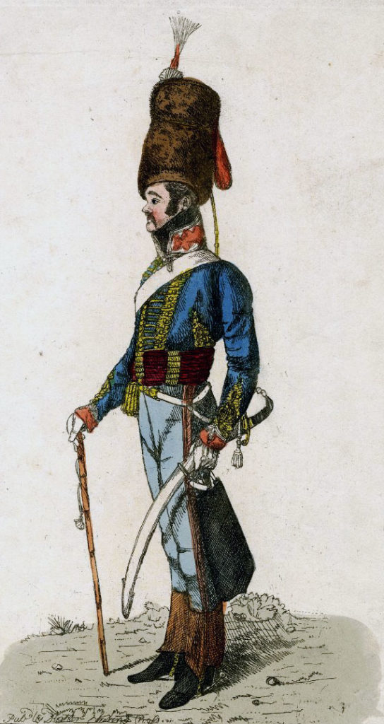 Officer British 15th Hussars: Battle of Sahagun on 21st December 1808 in the Peninsular War