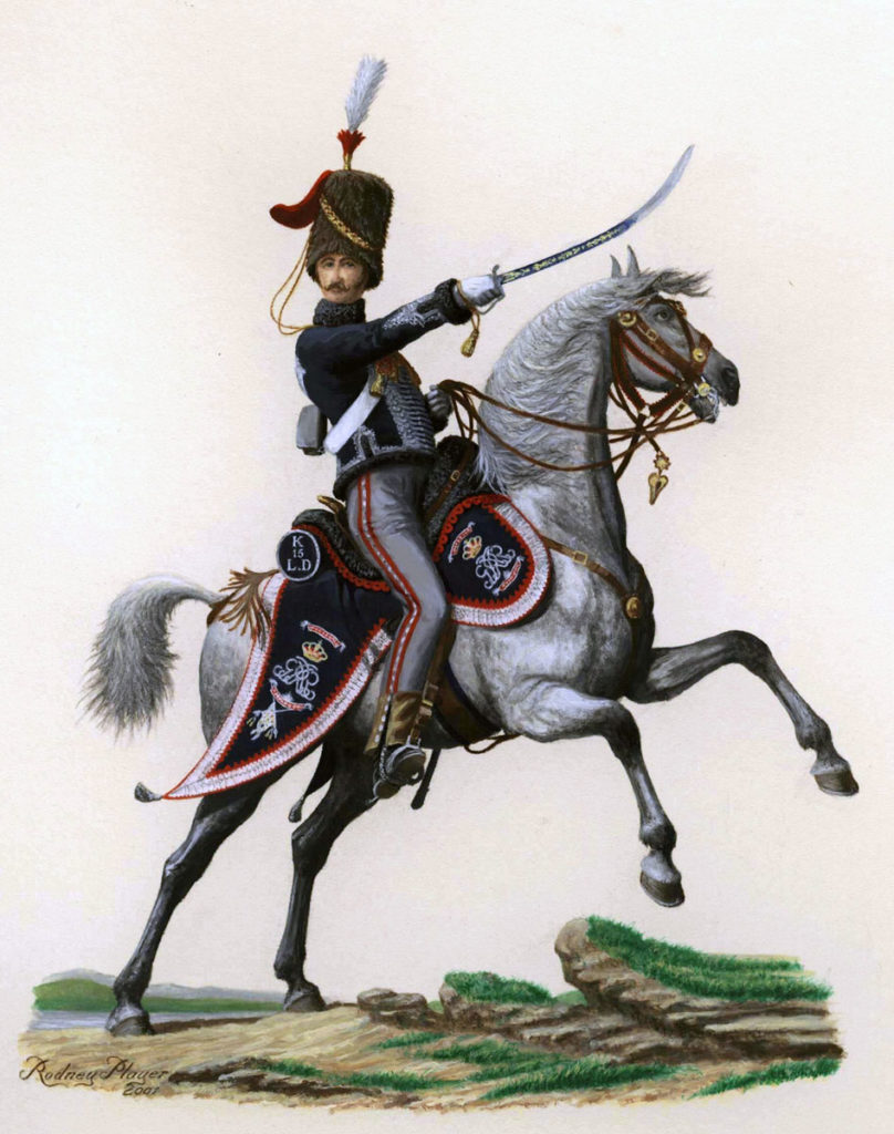 Officer of the British 15th Hussars: Battle of Sahagun on 21st December 1808 in the Peninsular War