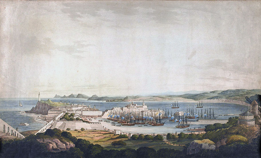 Corunna from the south-west: Battle of Corunna, also known as the Battle of Elviña, on 16th January 1809 in the Peninsular War