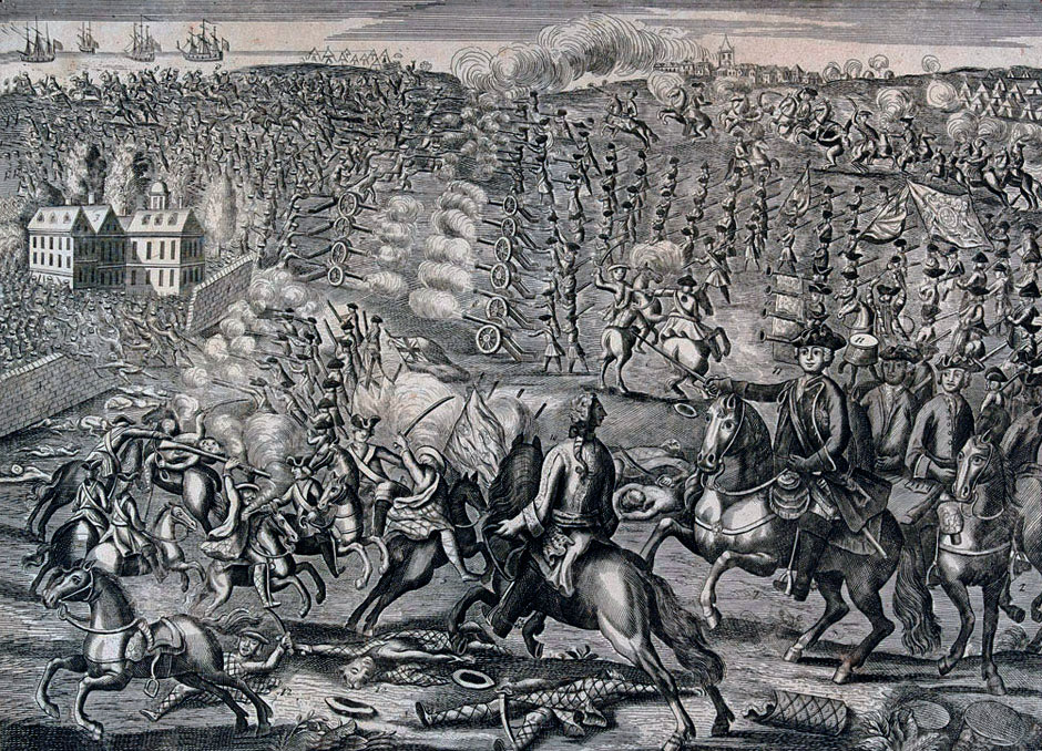 Contemporary Image of the Battle of Culloden 16th April 1746 in the Jacobite Rebellion
