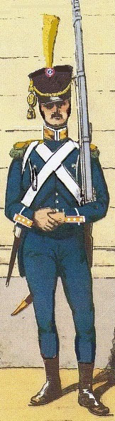 Voltigeur French 4th Light Infantry: Battle of Cacabelos on 3rd January 1809 in the Peninsular War