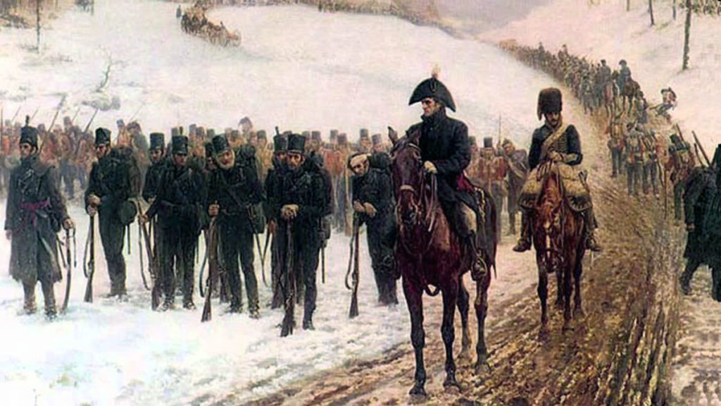 95th Rifles during the retreat to Corunna: Battle of Cacabelos on 3rd January 1809 in the Peninsular War: picture by JP Beadle