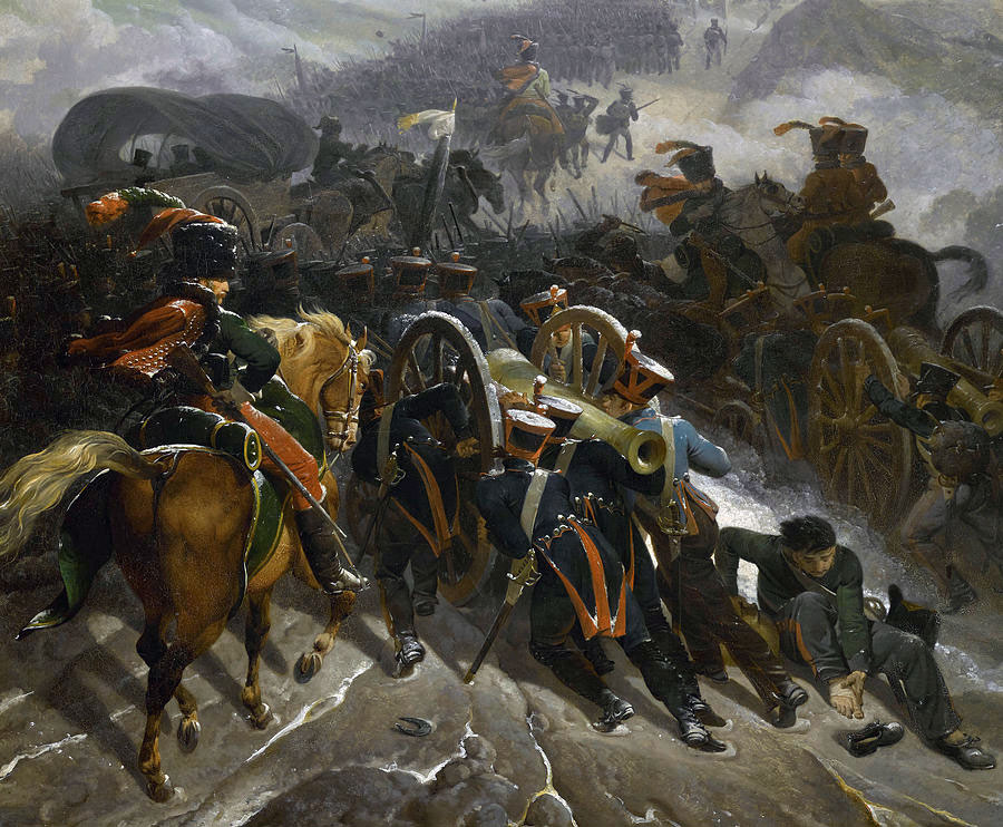 French Army crossing the Guardarrama Mountains before the Battle of Benevente on 29th December 1808 in the Peninsular War: picture by by Nicolas-Antoine Taunay