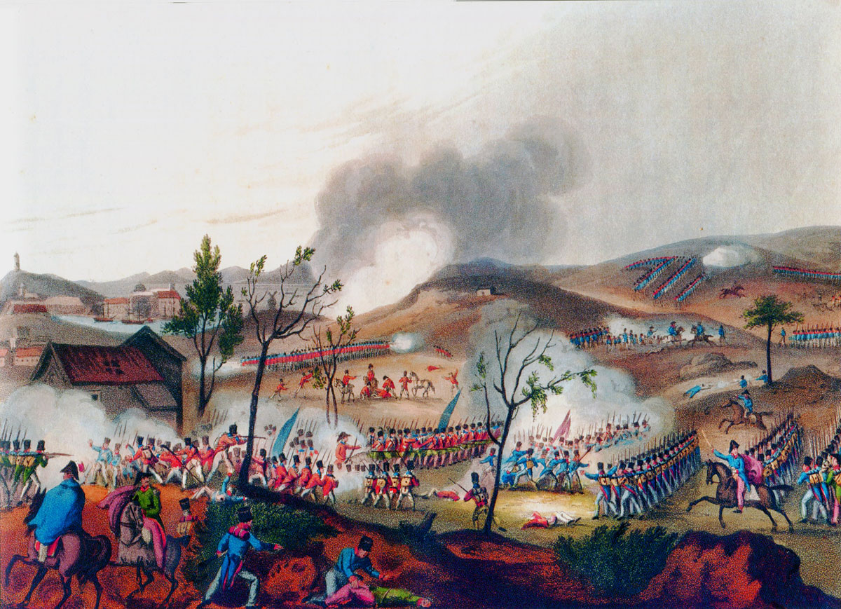 Battle of Corunna on 16th January 1809 in the Peninsular War: picture by JJ Jenkins