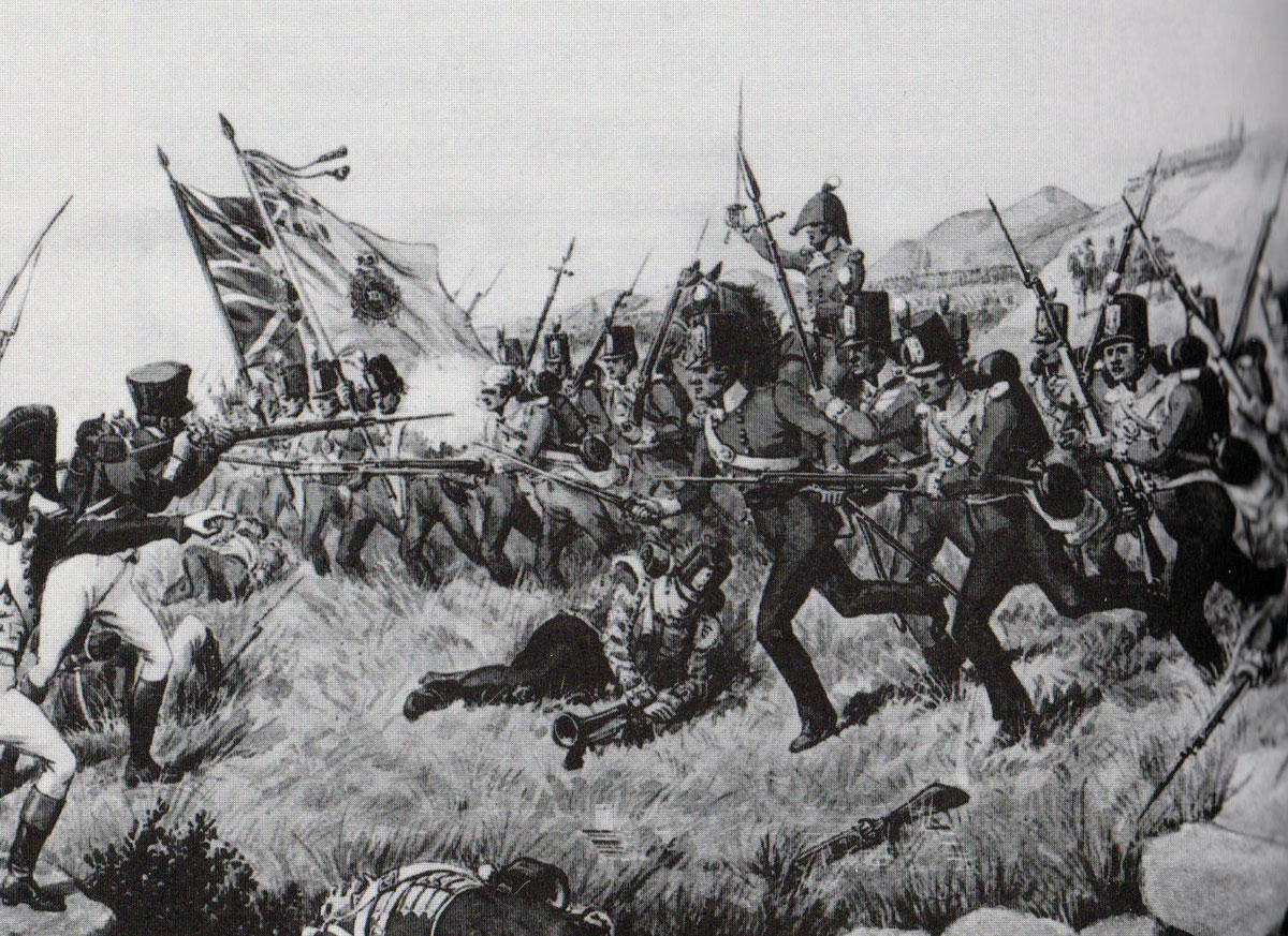 48th at the Battle of Talavera on 28th July 1809 in the Peninsular War