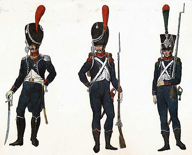 Soldiers of the French 9th Light Regiment: Battle of Talavera on 28th July 1809 in the Peninsular War