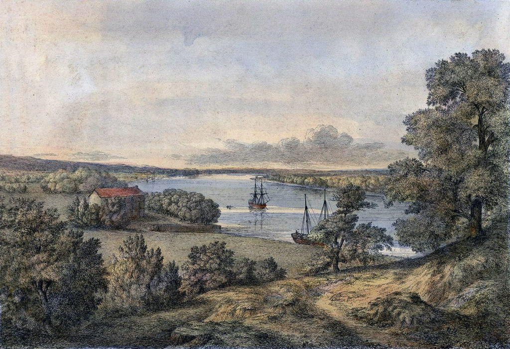River Adour above Bayonne: Sortie from Bayonne on 14th April 1814 in the Peninsular War: picture by Robert Batty