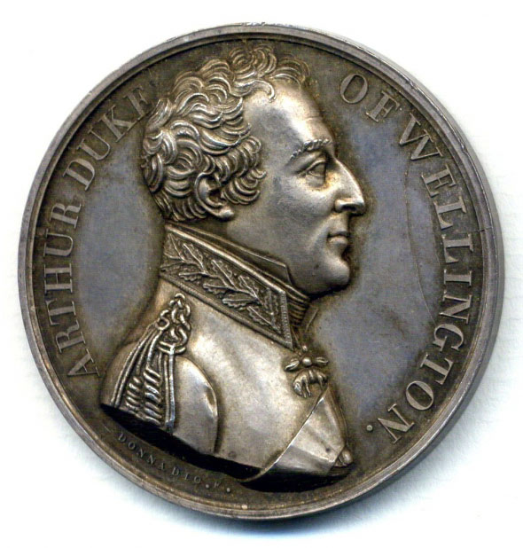 Silver Medal commemorating the Battle of Talavera on 28th July 1809 in the Peninsular War