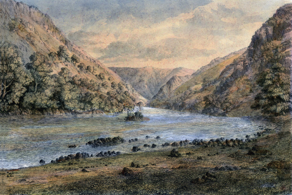 River Bidassoa upper reaches: Battle of San Marcial on 31st August 1813 in the Peninsular War: picture by Robert Barry