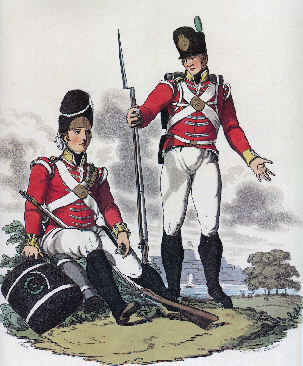 Grenadier and Light Company men of the 29th Foot: Battle of Talavera on 28th July 1809 in the Peninsular War: Hamilton Smith