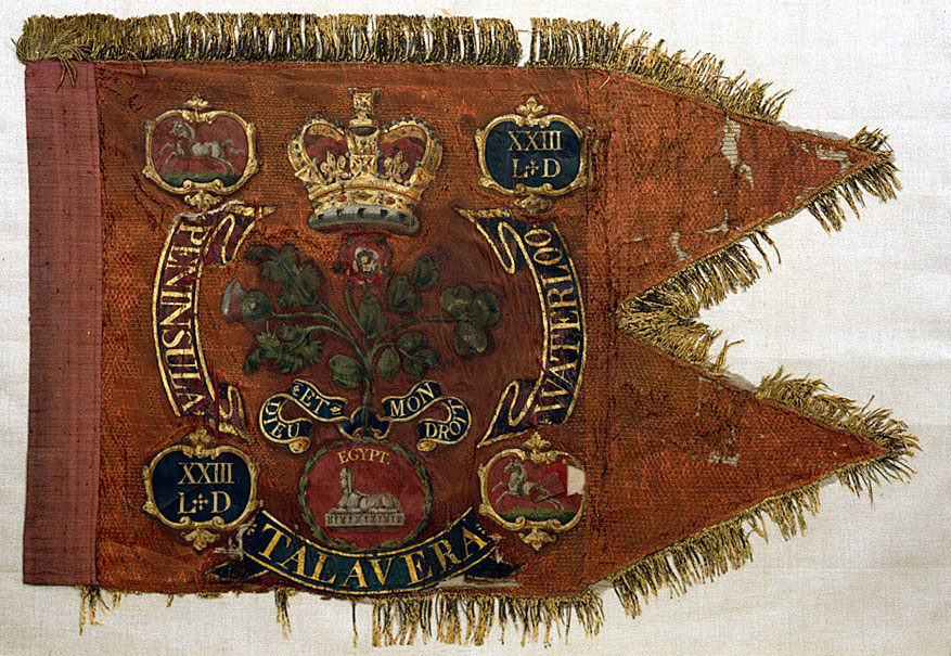Guidon of the 23rd Light Dragoons: Battle of Talavera on 28th July 1809 in the Peninsular War