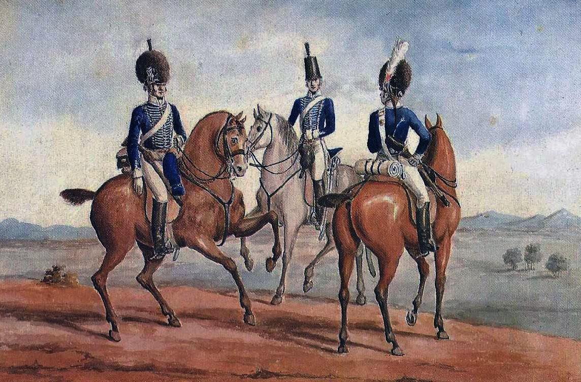 British Light Dragoons: Battle of Talavera on 28th July 1809 in the Peninsular War
