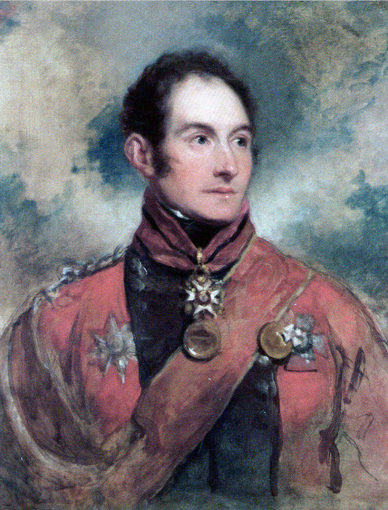 General Barnes: Battle of St Pierre fought on 13th December 1813 as part of the Battle of the Nive in the Peninsular War: picture by George Dawe