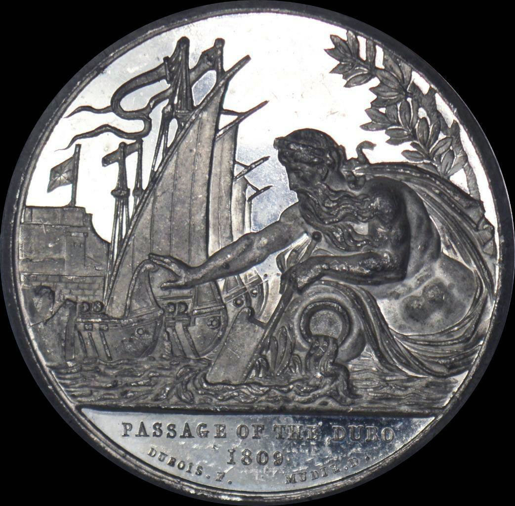 Medal commemorating the Battle of the Passage of the Douro on 16th May 1809 in the Peninsular War