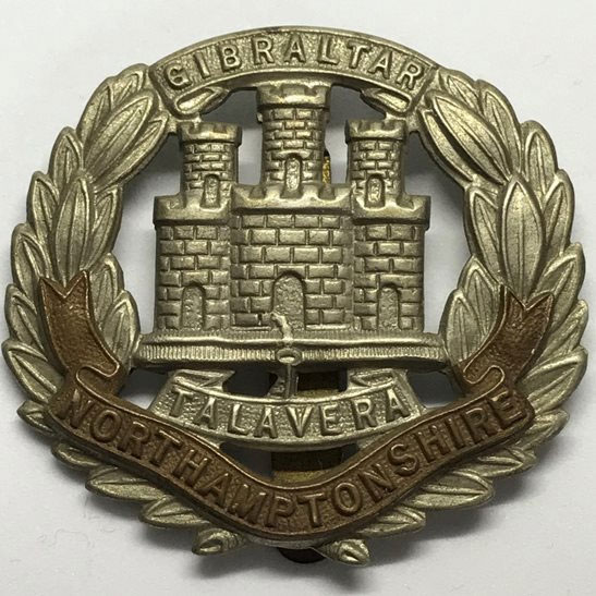 Badge of the Northamptonshire Regiment: Battle of Talavera on 28th July 1809 in the Peninsular War