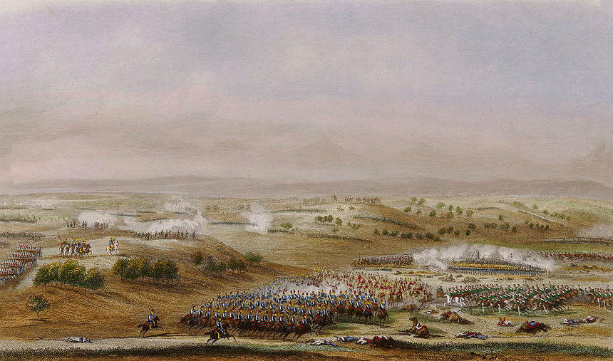 Attack by Anson's Light Cavalry Brigade at the Battle of Talavera on 28th July 1809