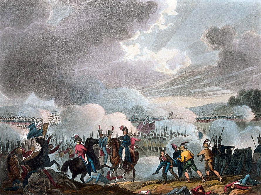 Battle of Talavera on 28th July 1809 in the Peninsular War