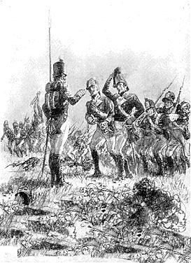 'The General's Hat' at the Battle of Talavera on 28th July 1809 in the Peninsular War