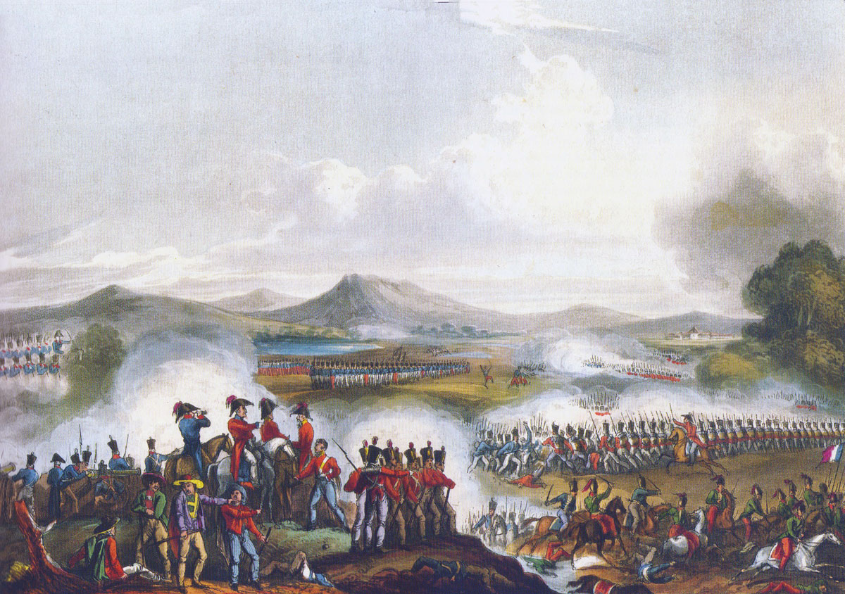 Battle of Talavera on 28th July 1809 in the Peninsular War: picture by JJ Jenkins