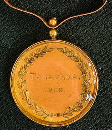 Army Gold Medal awarded to Lt Col Alexander Gordon of the 83rd Regiment for the Battle of Talavera on 28th July 1809 in the Peninsular War