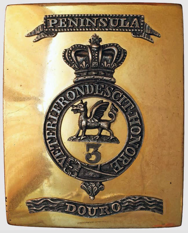 Officer's Shoulder Belt Plate of the 3rd Buffs commemorating the Battle of the Crossing of the Douro on 12th May 1809 in the Peninsular War