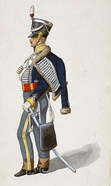 3rd King's German Legion Hussar: Battle of Benavente on 29th December 1808 in the Peninsular War