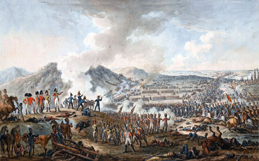 Battle of Talavera on 28th July 1809 in the Peninsular War: picture by E. Walker